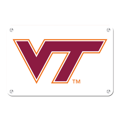 Virginia Tech Hokies - VT White - College Wall Art #Metal