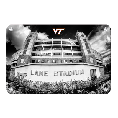 Virginia Tech Hokies - Lane Stadium Black & White - College Wall Art #Metal