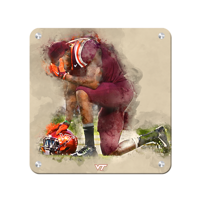 Virginia Tech Hokies - VT Pray - College Wall Art #Metal