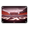 Virginia Tech Hokies - Hokie End Zone - College Wall Art #Metal
