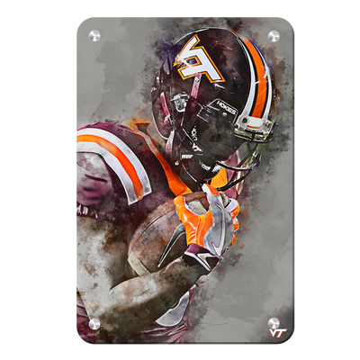 Virginia Tech Hokies - VT Watercolor - College Wall Art #Metal