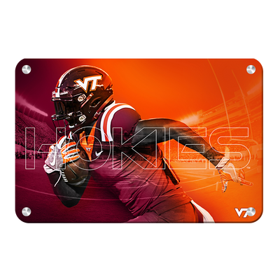 Virginia Tech Hokies - Maroon & Orange - College Wall Art #Metal