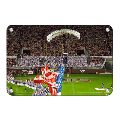 Virginia Tech Hokies - Enter Old Glory - College Wall Art #Metal