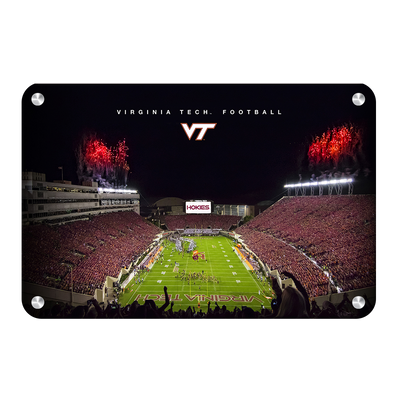 Virginia Tech Hokies - Enter VT Football - College Wall Art #Metal