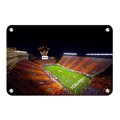 Virginia Tech Hokies - Aerial Striped Lane Stadium #Metal