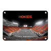 Virginia Tech Hokies - Hokie Striped End Zone - College Wall Art #Metal