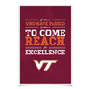Virginia Tech Hokies - Reach - College Wall Art #Poster