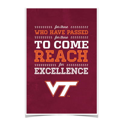 Virginia Tech Hokies - Reach #Poster