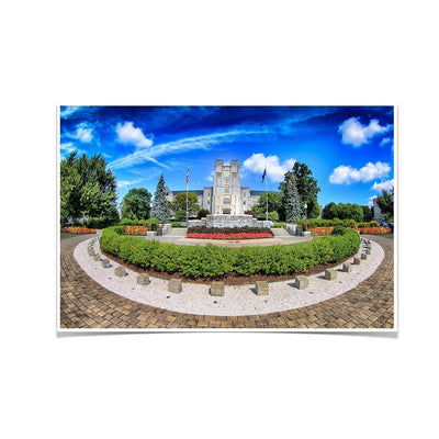 Virginia Tech Hokies - Burruss Hall - College Wall Art #Poster