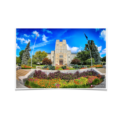 Virginia Tech Hokies - Summer Burress Hall - College Wall Art #Poster