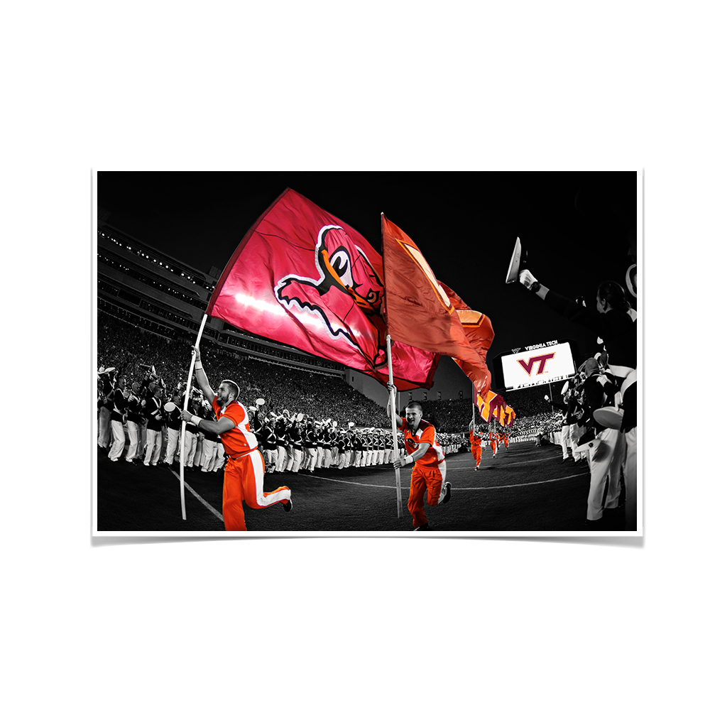 Virginia Tech Hokies - Enter Sandman - College Wall Art #Canvas