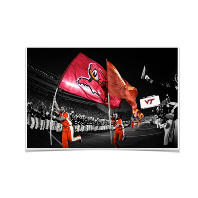 Virginia Tech Hokies - Enter Sandman - College Wall Art #Poster