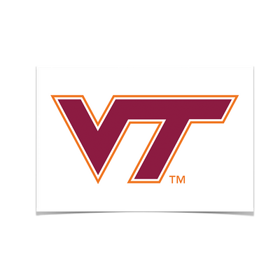 Virginia Tech Hokies - VT White - College Wall Art #Poster