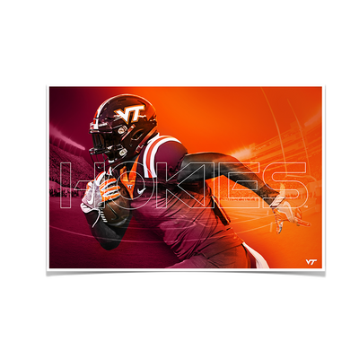 Virginia Tech Hokies - Maroon & Orange - College Wall Art #Poster