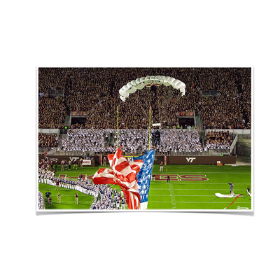 Virginia Tech Hokies - Enter Old Glory - College Wall Art #Poster
