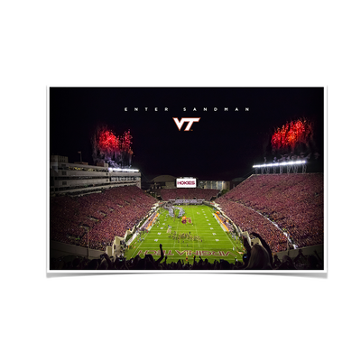 Virginia Tech Hokies - Enter VT Football #Poster
