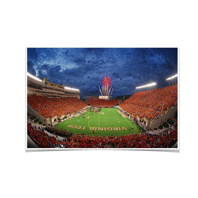 Virginia Tech Hokies - Stormy Lane Orange Out - College Wall Art #Poster