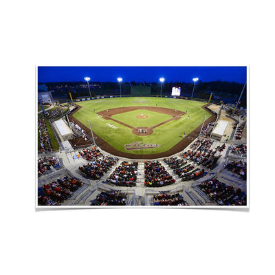 Virginia Tech Hokies - Night Time Union Park - College Wall Art #Poster