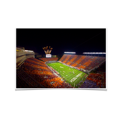 Virginia Tech Hokies - Aerial Striped Lane Stadium #Poster