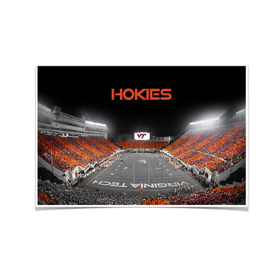 Virginia Tech Hokies - Hokie Striped End Zone - College Wall Art #Poster