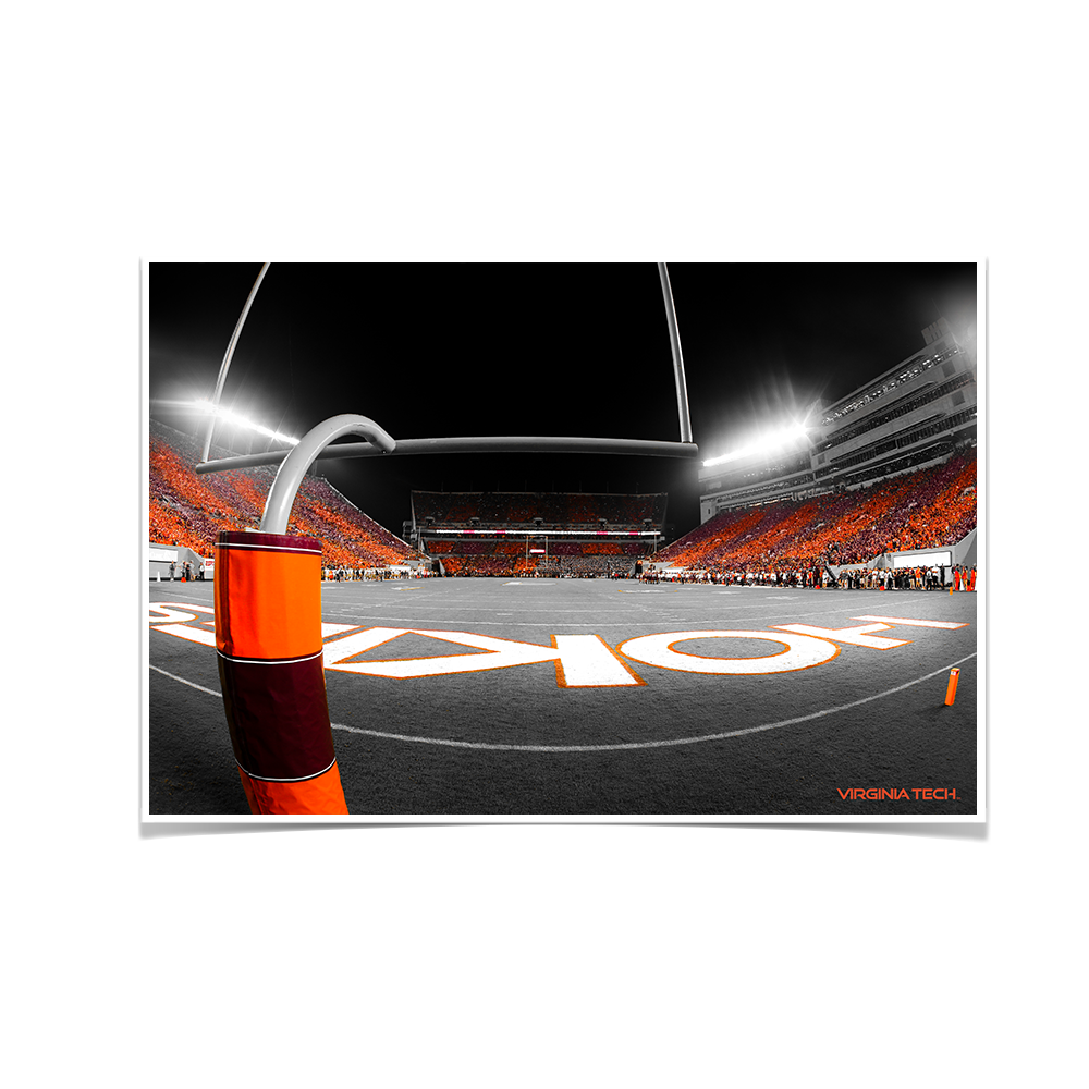 Virginia Tech Hokies - Thru the Hokie Striped Goal Post - College Wall Art #Canvas