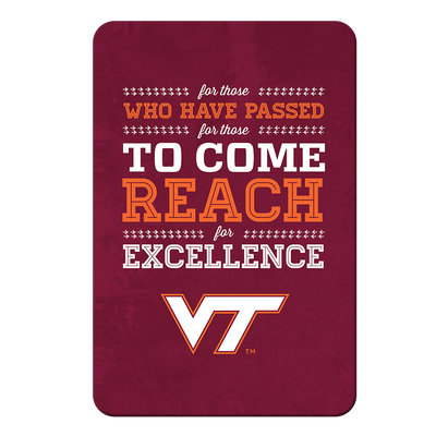 Virginia Tech Hokies - Reach - College Wall Art #PVC