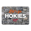 VIRGINIA TECH HOKIES - Lets Go Hokies - College Wall Art #PVC