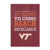 Virginia Tech Hokies - Reach - College Wall Art #Wood