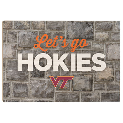 VIRGINIA TECH HOKIES - Lets Go Hokies - College Wall Art #Wood