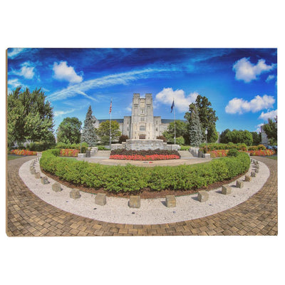Virginia Tech Hokies - Burruss Hall - College Wall Art #Wood