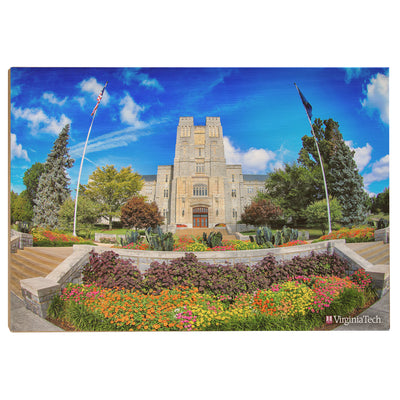 Virginia Tech Hokies - Summer Burress Hall - College Wall Art #Wood