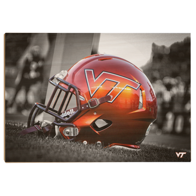 Virginia Tech Hokies - VT Helmet - College Wall Art #Wood
