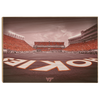 Virginia Tech Hokies - Hokie End Zone - College Wall Art #Wood