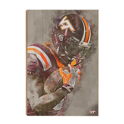 Virginia Tech Hokies - VT Watercolor - College Wall Art #Wood