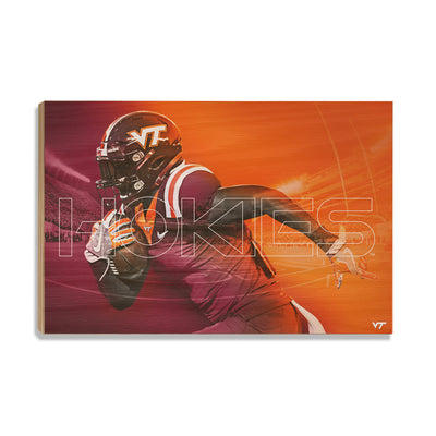 Virginia Tech Hokies - Maroon & Orange - College Wall Art #Wood