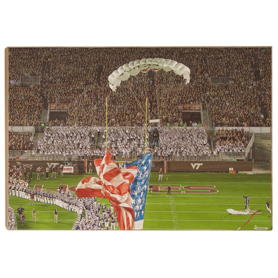 Virginia Tech Hokies - Enter Old Glory - College Wall Art #Wood
