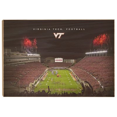 Virginia Tech Hokies - Enter VT Football - College Wall Art #Wood