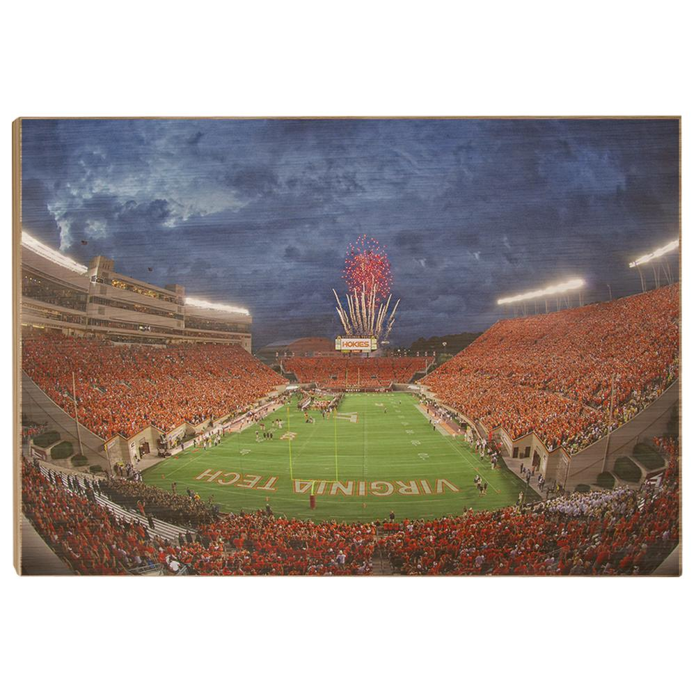 Virginia Tech Hokies - Stormy Lane Orange Out - College Wall Art #Canvas