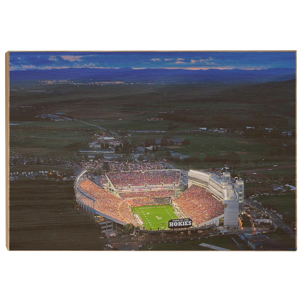 Virginia Tech Hokies - Aerial Sunset - College Wall Art #Canvas