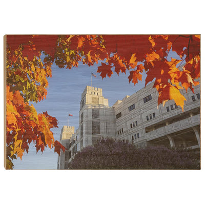 Virginia Tech Hokies - Lane Autumn Leaves - College Wall Art #Wood