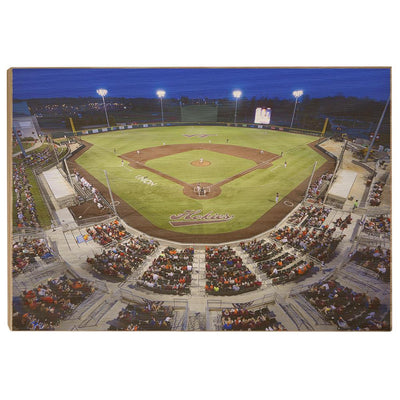 Virginia Tech Hokies - Night Time Union Park - College Wall Art #Wood