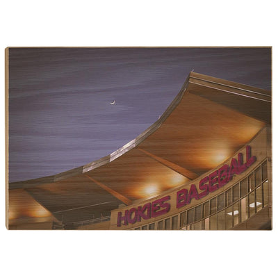 Virginia Tech Hokies - Crescent Moon Over Union Park - College Wall Art #Wood