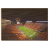 Virginia Tech Hokies - Aerial Striped Lane Stadium #Wood