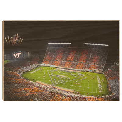 Virginia Tech Hokies - Super VT - College Wall Art #Wood