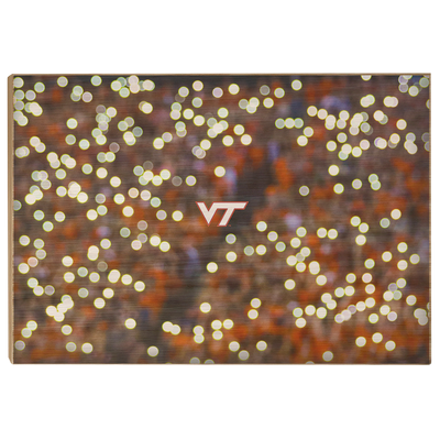 Virginia Tech Hokies - Light Up Lane - College Wall Art #Wood
