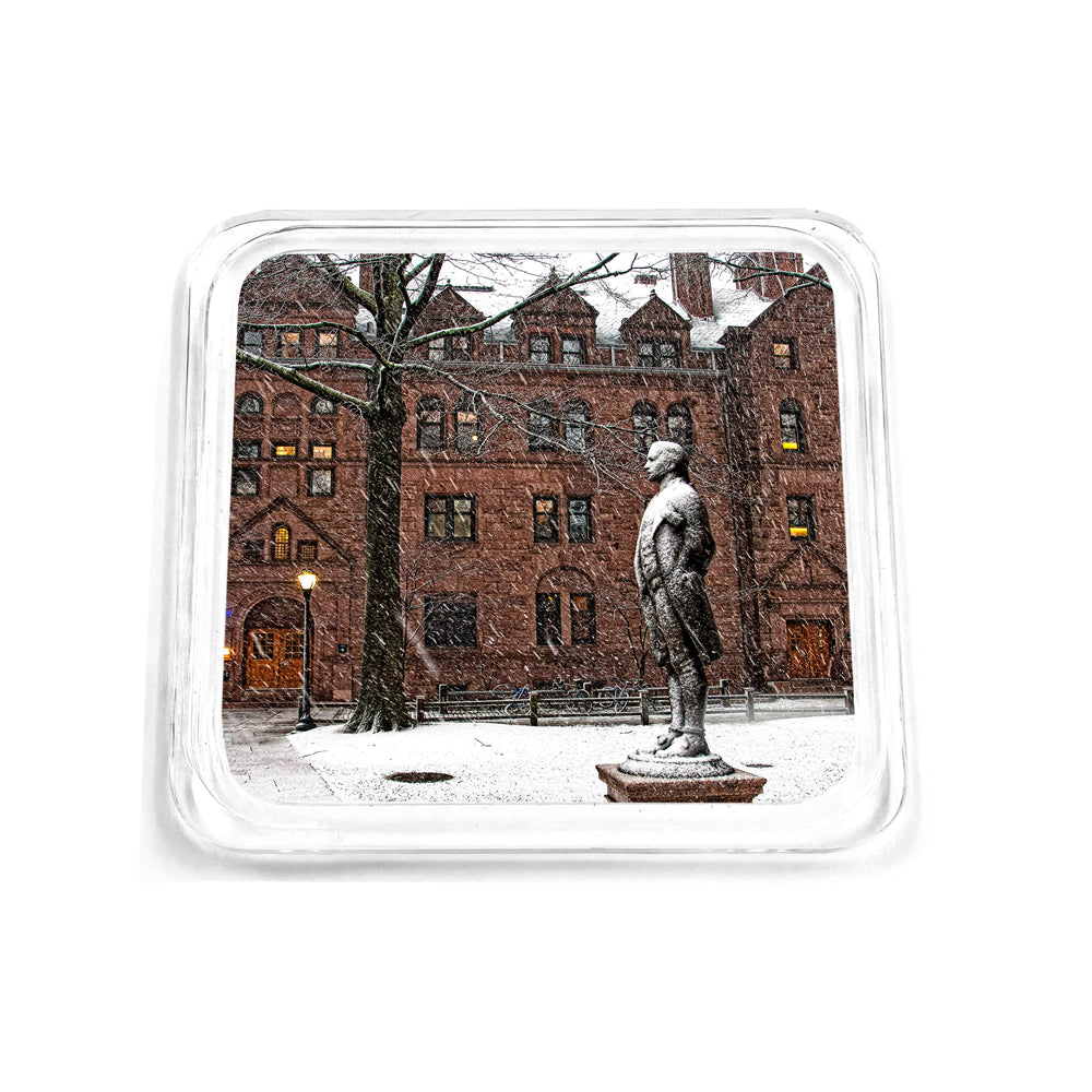 Yale Bulldogs - Snow on the Old Campus Drink Coaster
