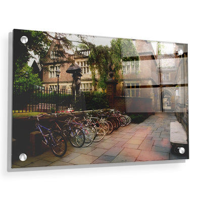 Yale Bulldogs - Bikes on Campus - College Wall Art #Acrylic