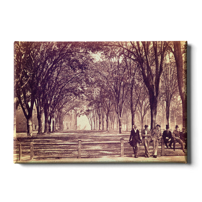 Yale Bulldogs - Vintage The Yale Fence - College Wall Art #Canvas