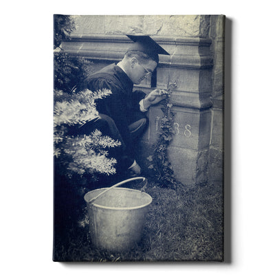 Yale Bulldogs - Vintage Planting the Ivy, 1938 -College Wall Art #Canvas