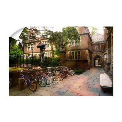 Yale Bulldogs - Bikes on Campus - College Wall Art #Wall Decal